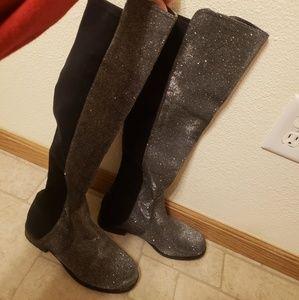 Unisa black glittery boots